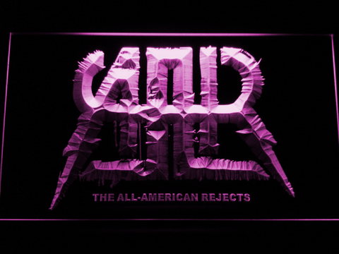All-American Rejects LED Neon Sign - Purple - SafeSpecial