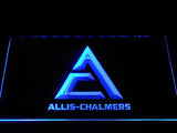 Allis-Chalmers Triangle Logo LED Neon Sign - Blue - SafeSpecial