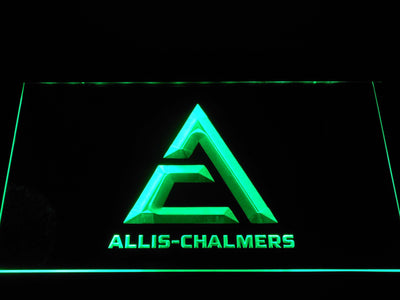 Allis-Chalmers Triangle Logo LED Neon Sign - Green - SafeSpecial