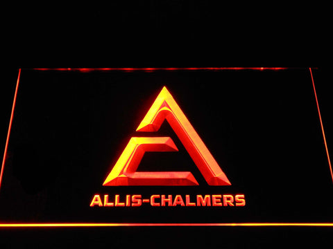 Allis-Chalmers Triangle Logo LED Neon Sign - Orange - SafeSpecial
