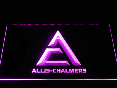 Allis-Chalmers Triangle Logo LED Neon Sign - Purple - SafeSpecial