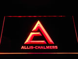 Allis-Chalmers Triangle Logo LED Neon Sign - Red - SafeSpecial