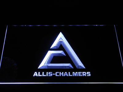 Allis-Chalmers Triangle Logo LED Neon Sign - White - SafeSpecial