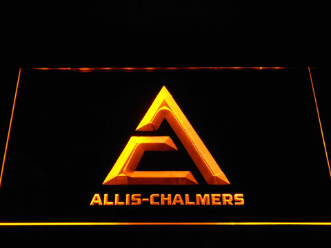 Allis-Chalmers Triangle Logo LED Neon Sign - Yellow - SafeSpecial