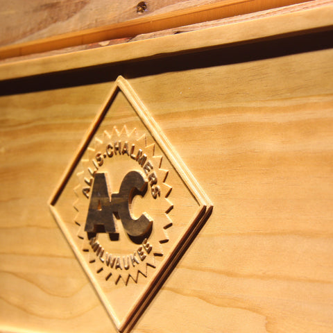 Image of Allis-Chalmers Wooden Sign - - SafeSpecial