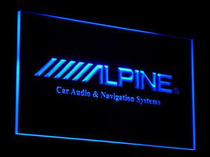 Alpine Car Audio and Navigation Systems LED Neon Sign - Blue - SafeSpecial