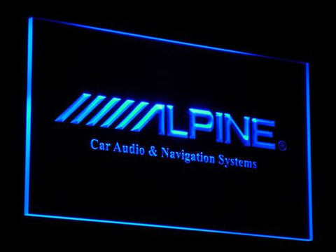 Image of Alpine Car Audio and Navigation Systems LED Neon Sign - Blue - SafeSpecial
