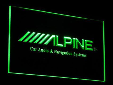 Image of Alpine Car Audio and Navigation Systems LED Neon Sign - Green - SafeSpecial