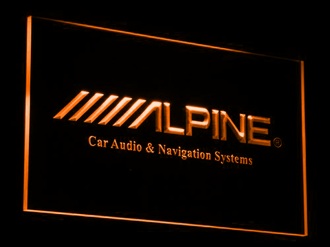 Image of Alpine Car Audio and Navigation Systems LED Neon Sign - Orange - SafeSpecial