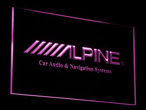 Image of Alpine Car Audio and Navigation Systems LED Neon Sign - Purple - SafeSpecial