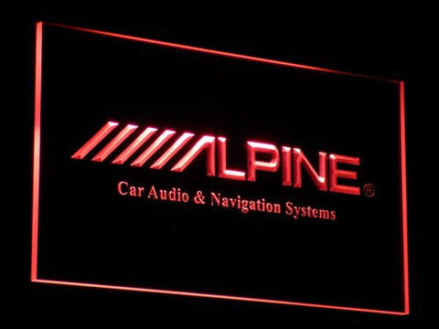 Image of Alpine Car Audio and Navigation Systems LED Neon Sign - Red - SafeSpecial