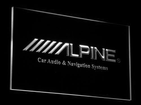 Image of Alpine Car Audio and Navigation Systems LED Neon Sign - White - SafeSpecial