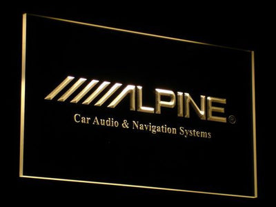 Alpine Car Audio and Navigation Systems LED Neon Sign - Yellow - SafeSpecial