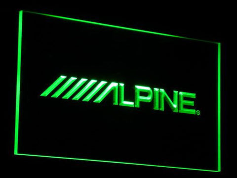 Image of Alpine LED Neon Sign - Green - SafeSpecial