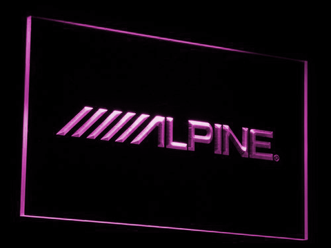 Alpine LED Neon Sign - Purple - SafeSpecial