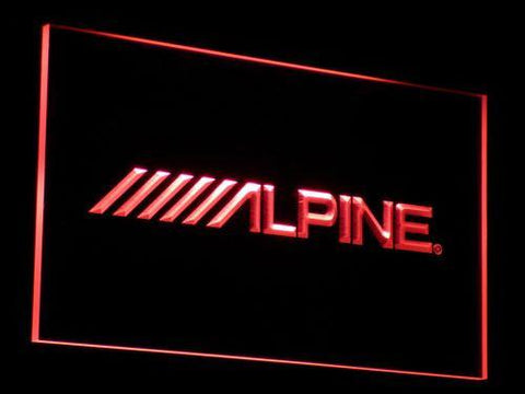Alpine LED Neon Sign - Red - SafeSpecial