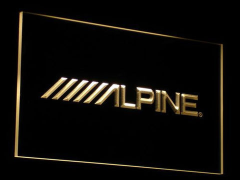 Image of Alpine LED Neon Sign - Yellow - SafeSpecial