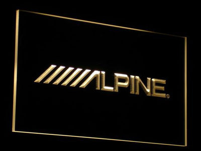 Alpine LED Neon Sign - Yellow - SafeSpecial