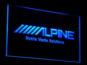 Alpine Mobile Media Solutions LED Neon Sign - Blue - SafeSpecial