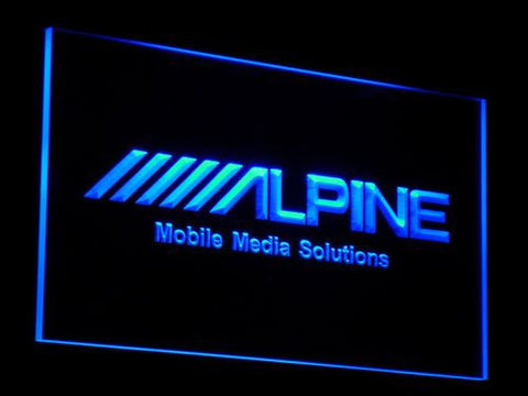 Image of Alpine Mobile Media Solutions LED Neon Sign - Blue - SafeSpecial