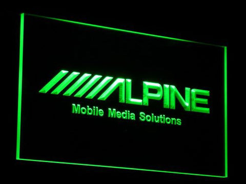 Image of Alpine Mobile Media Solutions LED Neon Sign - Green - SafeSpecial
