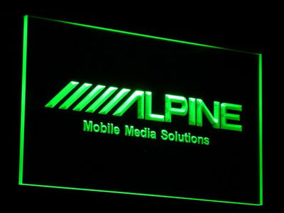 Alpine Mobile Media Solutions LED Neon Sign - Green - SafeSpecial
