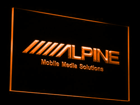 Image of Alpine Mobile Media Solutions LED Neon Sign - Orange - SafeSpecial