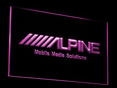 Image of Alpine Mobile Media Solutions LED Neon Sign - Purple - SafeSpecial