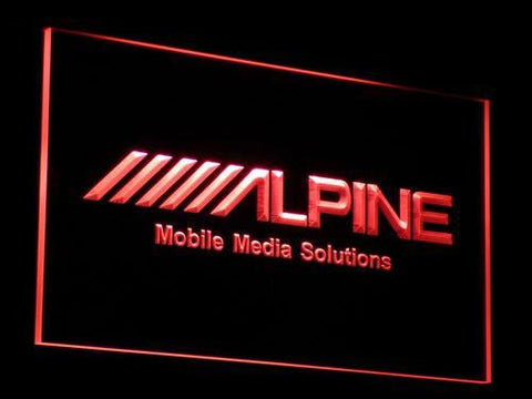 Image of Alpine Mobile Media Solutions LED Neon Sign - Red - SafeSpecial