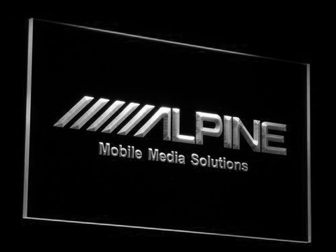 Alpine Mobile Media Solutions LED Neon Sign - White - SafeSpecial