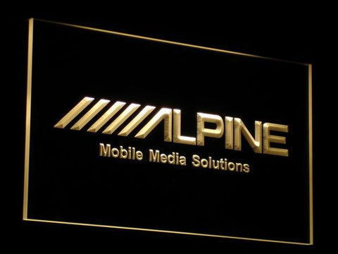 Image of Alpine Mobile Media Solutions LED Neon Sign - Yellow - SafeSpecial