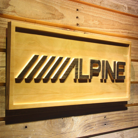 Image of Alpine Wooden Sign - - SafeSpecial
