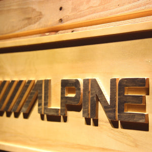Alpine Wooden Sign - - SafeSpecial