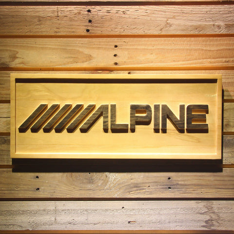 Image of Alpine Wooden Sign - Small - SafeSpecial