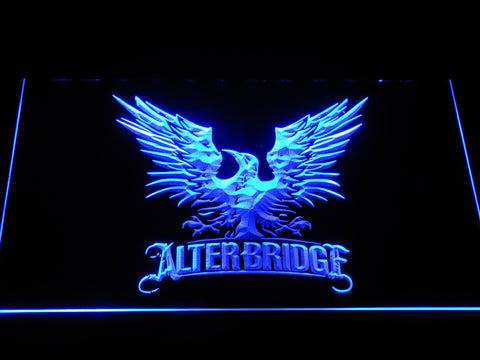 Alter Bridge Eagle LED Neon Sign - Blue - SafeSpecial
