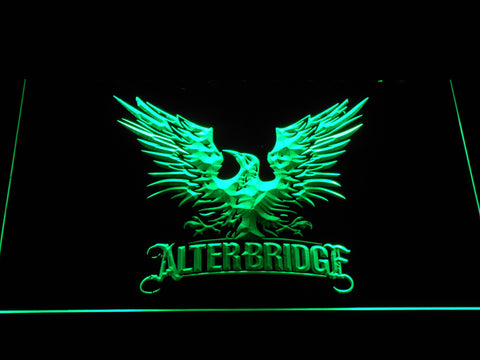 Alter Bridge Eagle LED Neon Sign - Green - SafeSpecial