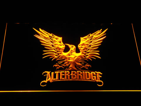 Alter Bridge Eagle LED Neon Sign - Yellow - SafeSpecial