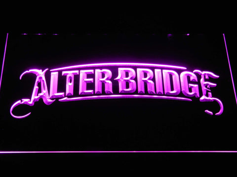 Alter Bridge LED Neon Sign - Purple - SafeSpecial
