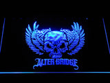 Alter Bridge Skull LED Neon Sign - Blue - SafeSpecial