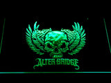 Alter Bridge Skull LED Neon Sign - Green - SafeSpecial