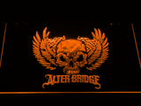Alter Bridge Skull LED Neon Sign - Orange - SafeSpecial