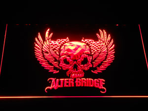 Alter Bridge Skull LED Neon Sign - Red - SafeSpecial