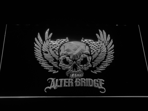 Alter Bridge Skull LED Neon Sign - White - SafeSpecial