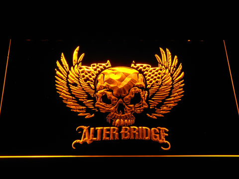 Alter Bridge Skull LED Neon Sign - Yellow - SafeSpecial