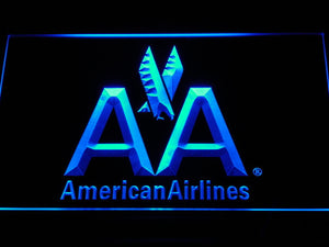 American Airlines LED Neon Sign - Blue - SafeSpecial