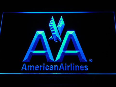 Image of American Airlines LED Neon Sign - Blue - SafeSpecial
