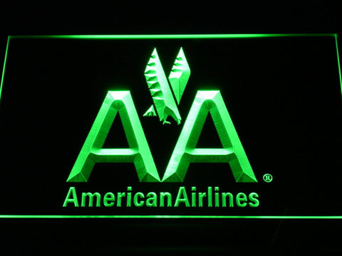 Image of American Airlines LED Neon Sign - Green - SafeSpecial