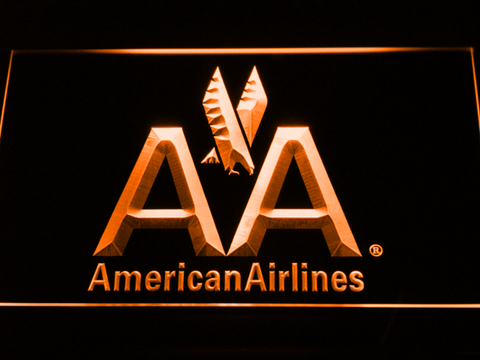 Image of American Airlines LED Neon Sign - Orange - SafeSpecial