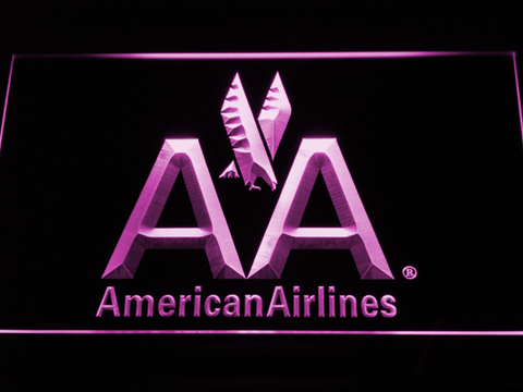 Image of American Airlines LED Neon Sign - Purple - SafeSpecial