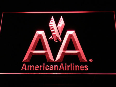 Image of American Airlines LED Neon Sign - Red - SafeSpecial